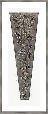 , Needlework, 19th Century Embroidery Framed Print