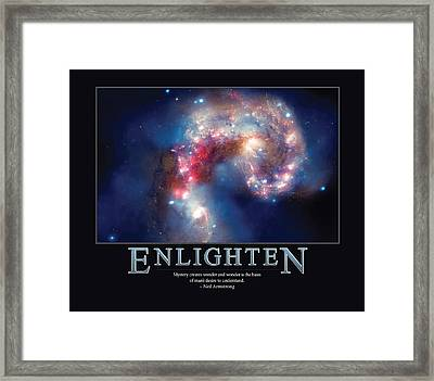 Neil Armstrong Enlighten Framed Print by Retro Images Archive