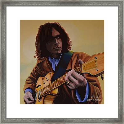 Neil Young Painting Framed Print by Paul Meijering