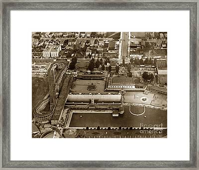 Neptune Beach Olympic Size Swimming Pool And A Roller Coaster Alameda Circa 1920 Framed Print