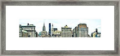 New York City Framed Print by Ken Marsh