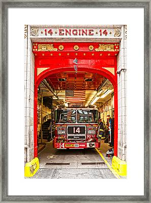 New York Fire Department Engine 14 Framed Print by Luciano Mortula