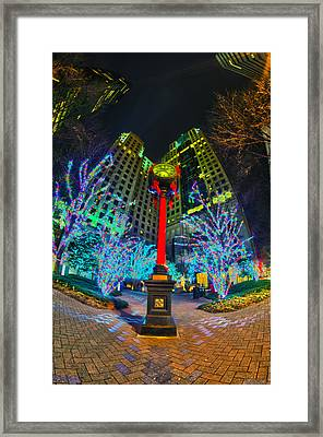 Nightlife Around Charlotte During Christmas Framed Print