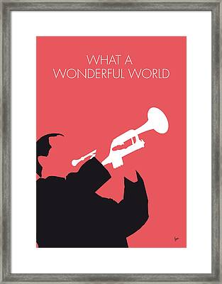 No012 My Louis Armstrong Minimal Music Poster Framed Print