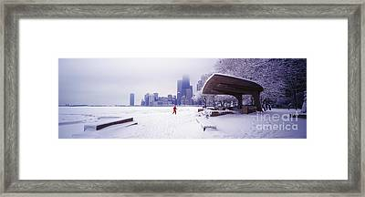 North Ave Beach Chess Palv Chicago Lake Front  Framed Print