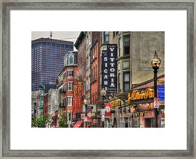 North End Charm - Boston Framed Print by Joann Vitali