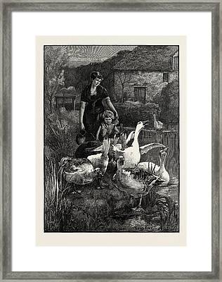 Obstructionists  From The Picture By Yeend King Framed Print by Litz Collection