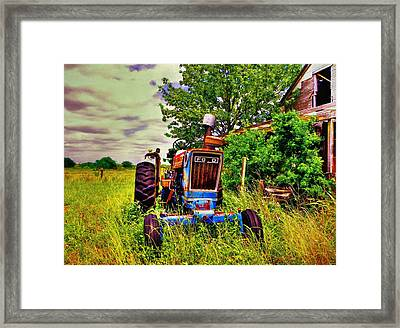 Old Ford Tractor Framed Print by Savannah Gibbs