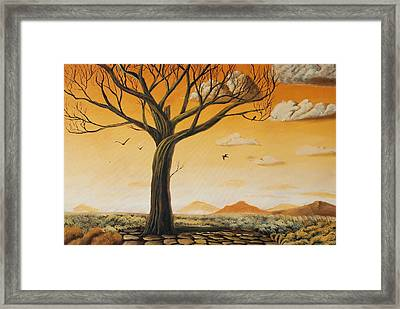 Old Oak Framed Print by Dirk Schneemann