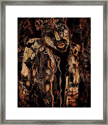Old Poor And Homeless Framed Print