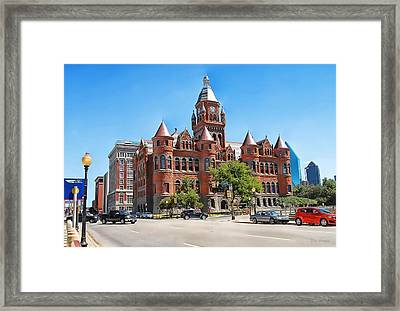 Framed Print featuring the photograph   Old Red Museum - Dallas  by Dyle   Warren
