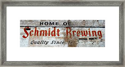 Old Schmidt Brewery  Framed Print