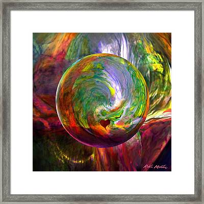 Orbing A Sea Of Love Framed Print by Robin Moline