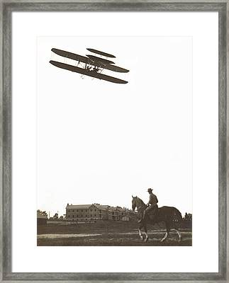 Orville Wright Soars Over Fort Meyer  C. 1909 Framed Print by Daniel Hagerman