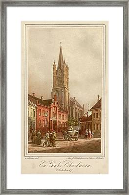 Oslo (formerly Christiania)  Street Framed Print by Mary Evans Picture Library