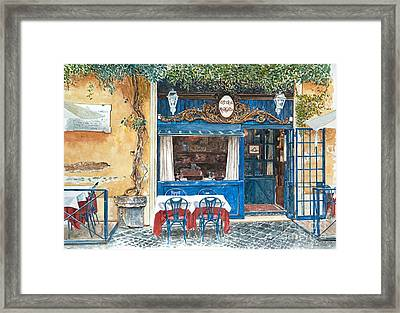Osteria Margutta Rome Italy Framed Print by Anthony Butera