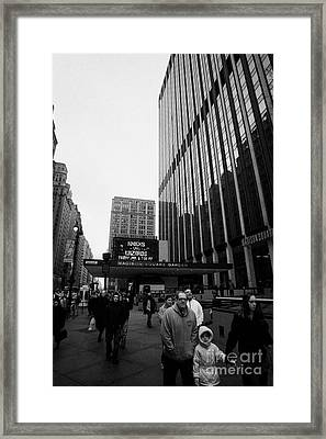 Outside Madison Square Garden New York City Winter Usa Framed Print by Joe Fox