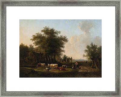 Outskirts Of The Farm Framed Print by Celestial Images
