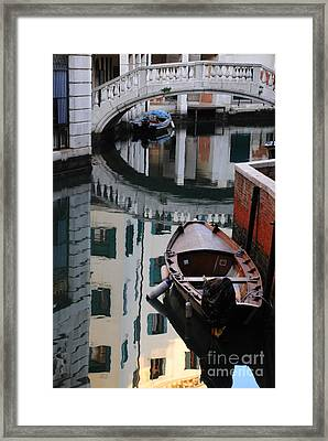 Oval Reflection Framed Print by Jacqueline M Lewis