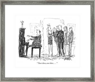 'over Framed Print