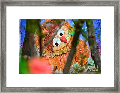 Owl Leaf Forest Framed Print by Vin Kitayama