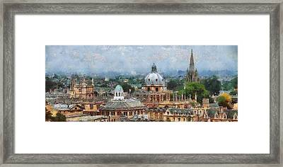 Oxford Panorama Framed Print