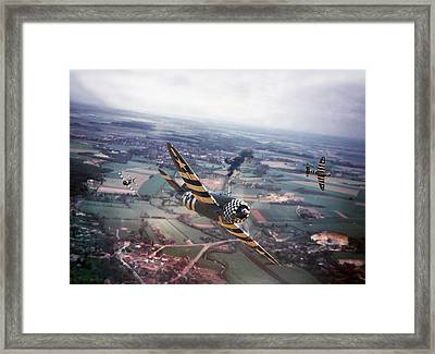 P47- D-day Train Busters Framed Print by Pat Speirs