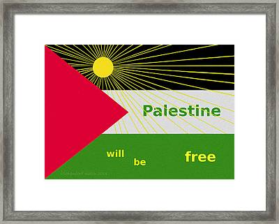 Palestine Will Be Free  - 1035 Framed Print