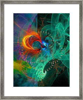 Parallel Reality - Colorful Digital Abstract Art Framed Print