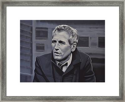Paul Newman Framed Print by Paul Meijering