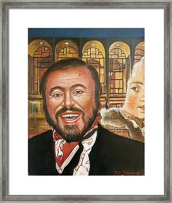 Pavarotti And The Ghost Of Lincoln Center Framed Print