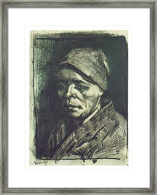 Peasant Woman Framed Print by Vincent van Gogh