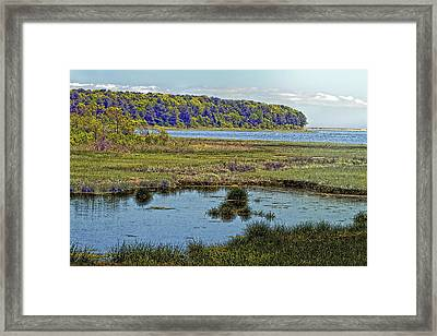 Picturesque Pinquickset Cove On Popponesset Bay Framed Print by Constantine Gregory