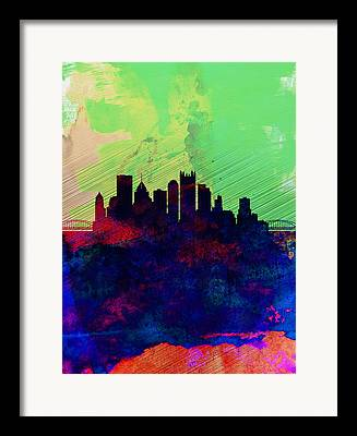 Downtown Pittsburgh Framed Prints
