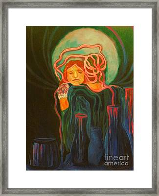 The Alcoholic Mother Framed Print