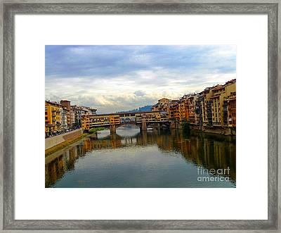 Ponte Vecchio's Padlocks Framed Print