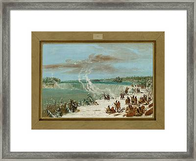 Portage Around The Falls Of Niagara At Table Rock Framed Print