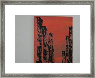 Framed Print featuring the painting  Portals by Sharyn Winters
