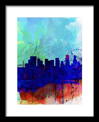 Portland Skyline Framed Prints