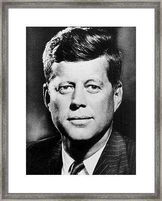 Portrait Of John F. Kennedy  Framed Print by American Photographer