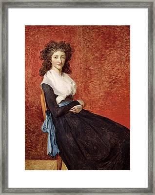 Portrait Of Madame Charles-louis Trudaine Framed Print
