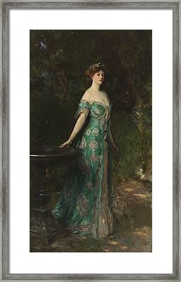 Portrait Of Millicent Leveson-gower - Duchess Of Sutherland Framed Print