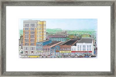 Portsmouth Ohio Dime Store Row 4th To 5th Framed Print by Frank Hunter
