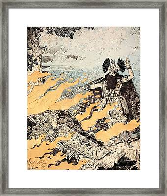 Poster Of The Valkyrie  Framed Print by Richard Wagner