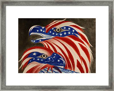 Proud Of Eagle Framed Print