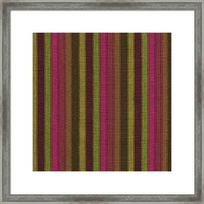Purple And Green Striped Textile Background Framed Print