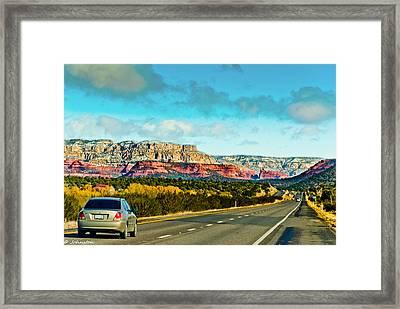 R89 To Sedona Arizona  Framed Print by Bob and Nadine Johnston