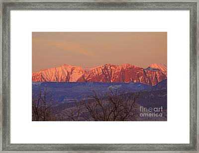 Radiant Ragged Mountain Evening Co II Framed Print