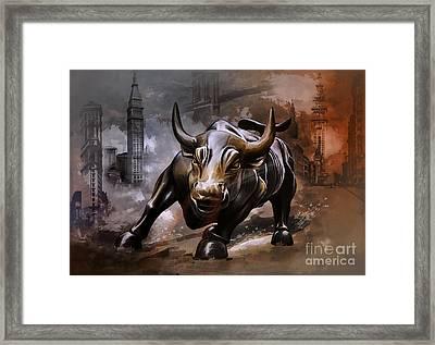 Raging Bull Framed Print