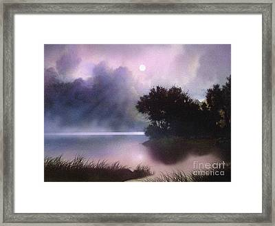Rain Lake Framed Print by Robert Foster